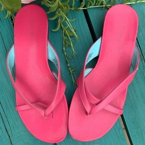 TOMMY HILFIGER pink leather strappy sandal